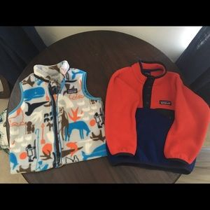 Patagonia Fleece Bundle Pull Over and Vest